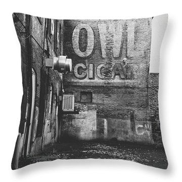 Owl Cigar- Walla Walla Photography By Linda Woods Throw Pillow