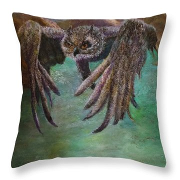 Owl Eagle Throw Pillow