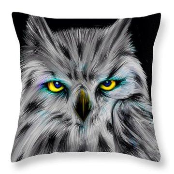 Owl Eyes  Throw Pillow