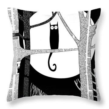 Owl Impression Throw Pillow
