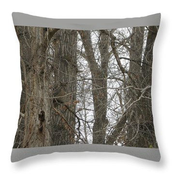 Owl In Camouflage Throw Pillow