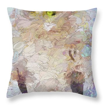 Throw Pillow featuring the digital art OWL by Jim  Hatch
