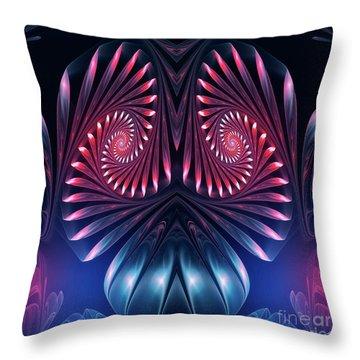 Throw Pillow featuring the digital art Owl by Jutta Maria Pusl