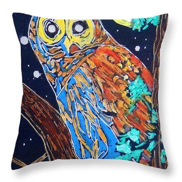 Owl Light Throw Pillow