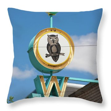 Throw Pillow featuring the photograph Owl by Matthew Bamberg