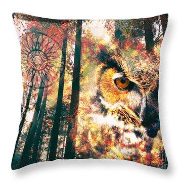 Owl Medicine 2015 Throw Pillow