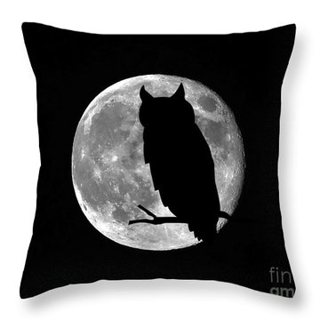 Owl Moon Throw Pillow by Al Powell Photography USA