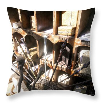 Throw Pillow featuring the photograph Owl Post Office Hogsmeade by Juergen Weiss