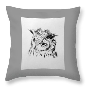 Owl Study Throw Pillow