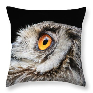 Owl The Grand-duc Throw Pillow