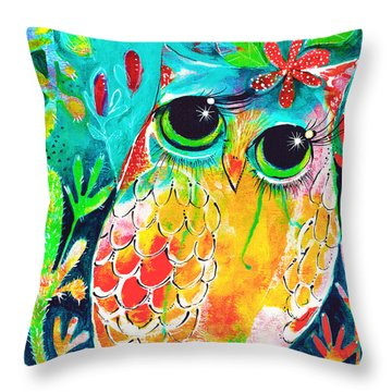 Owlette Throw Pillow by DAKRI Sinclair
