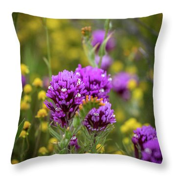 Throw Pillow featuring the photograph Owl's Clover by Peter Tellone