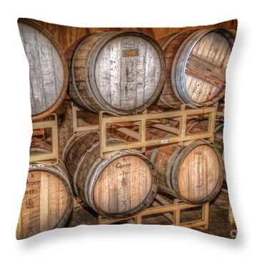 Owl's Eye Winery Throw Pillow by Marion Johnson