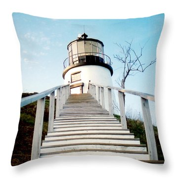 Owl's Head Light Throw Pillow