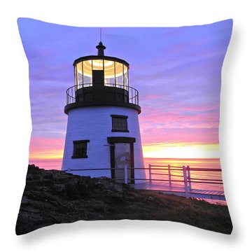 Owls Head Light Throw Pillow