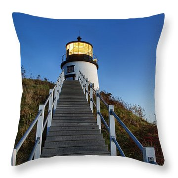 Owls Head Lighthouse Throw Pillow by John Greim