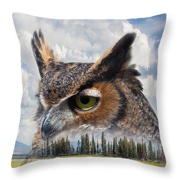 Owl's Rest Throw Pillow