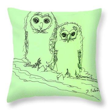 Owlz R Us Throw Pillow