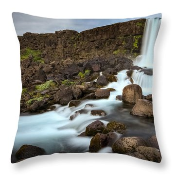 Oxararfoss Throw Pillow