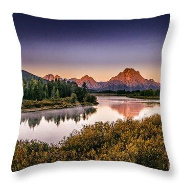 Oxbow Bend Throw Pillow