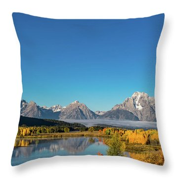 Oxbow Bend Throw Pillow by Mary Hone