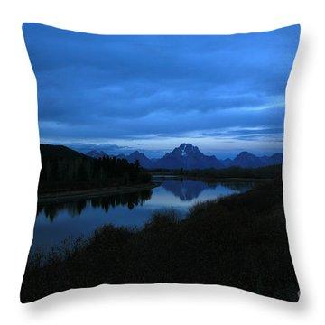 Oxbow Moon Throw Pillow