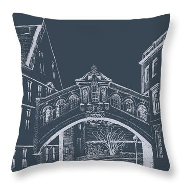 Throw Pillow featuring the digital art Oxford At Night by Elizabeth Lock