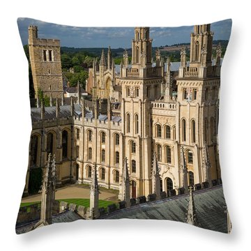 Throw Pillow featuring the photograph Oxford Spires by Brian Jannsen
