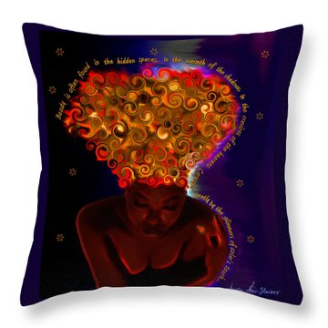 Throw Pillow featuring the digital art Oya by Iowan Stone-Flowers