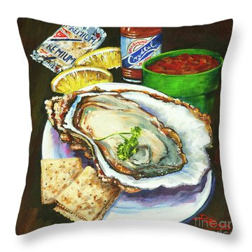 Oyster And Crystal Throw Pillow
