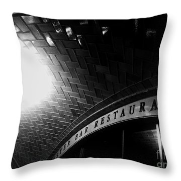 Oyster Bar At Grand Central Throw Pillow