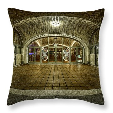 Throw Pillow featuring the photograph Oyster Bar Restaurant by Rafael Quirindongo