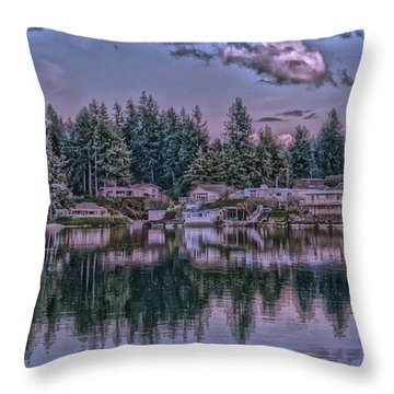 Throw Pillow featuring the photograph Oyster Bay 1 by Timothy Latta