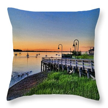 Oyster Bay Long Island Throw Pillow