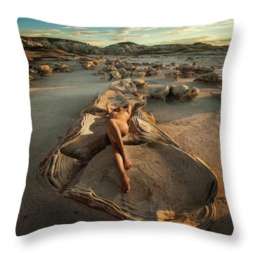 Oyster Bed Throw Pillow