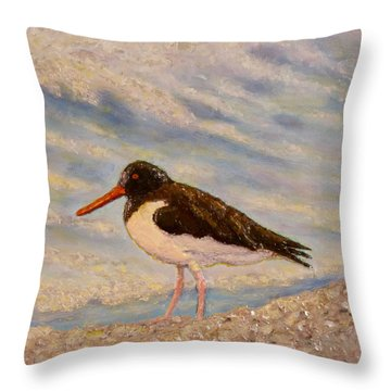 Oyster Catcher Throw Pillow