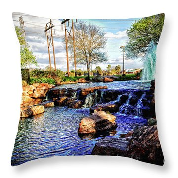 Oyster Creek Throw Pillow by JB Thomas
