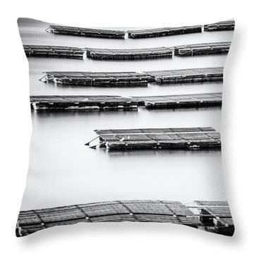 Oyster Farm Throw Pillow