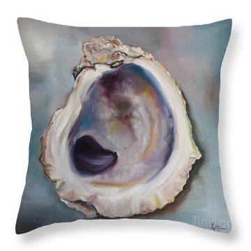 Oyster Shell II Throw Pillow