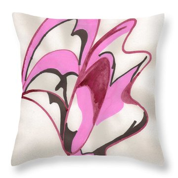 Oyster Shell Throw Pillow by Mary Mikawoz