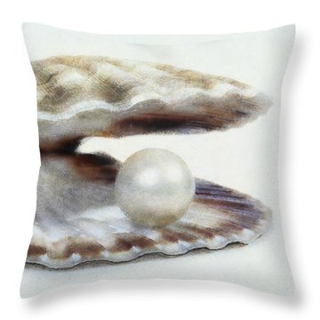 Oyster With Pearl Throw Pillow