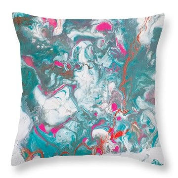 Oysters And Pearls Throw Pillow