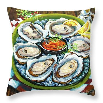 Oysters On The Half Shell Throw Pillow