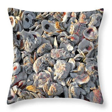 Oysters Shells Throw Pillow
