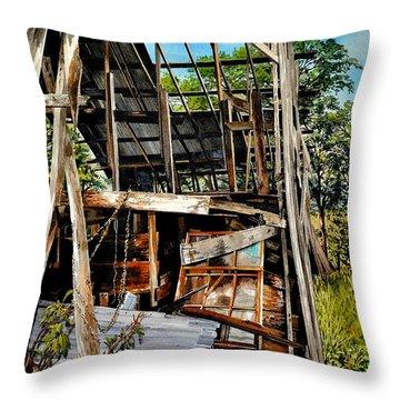 Ozark Barn Throw Pillow