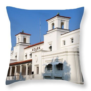 Ozark Bath House Throw Pillow