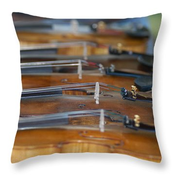 Throw Pillow featuring the photograph Ozark Hoedown by Wanda Brandon