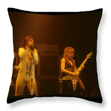 Ozzy Ozbourne And Randy Rhoads Throw Pillow