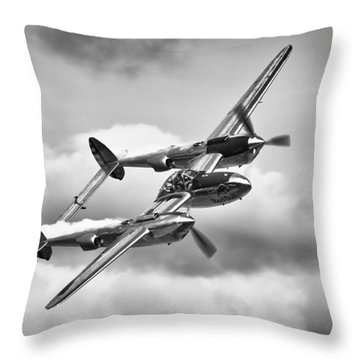 P-38 Lightning Throw Pillow