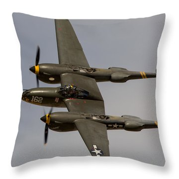 P-38 Skidoo Throw Pillow